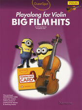 Commentaires Spot playalong for violin big film hits partitions livre / dlc