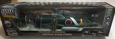 1:18 BBI Elite Force WWII Mitsubishi A6M Japanese GREEN Zero Fighter Aircraft
