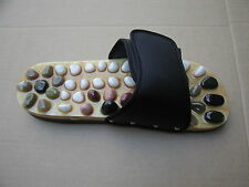 NEW - NATURAL STONE MASSAGE SANDALS - BLACK - UNISEX - MEDIUM SIZE - FREE SHIP!!