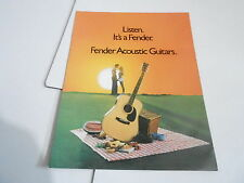VINTAGE MUSICAL INSTRUMENT CATALOG #10689 - 1979 FENDER ACOUSTIC GUITARS