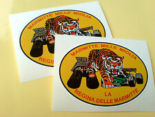 MARMITTE MILLE MIGLIA Car Retro Stickers Decals 2 off 90mm