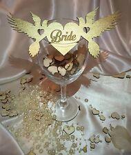 Nombre de madera personalizado boda tarjetas de lugar;;; Decoración De Mesa Aniversario palomas