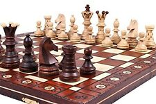 Chess Vintage Set Board Carved Hand Box Pieces Folding Original Staunton