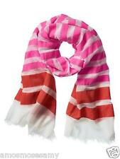 NWT Banana Republic Ellie Pink White Striped Scarf Wrap Oversized Rectangle $58