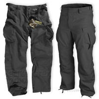 HELIKON MENS SPECIAL FORCES (SFU) TROUSERS, ARMY COMBAT CARGO PANTS BLACK TWILL