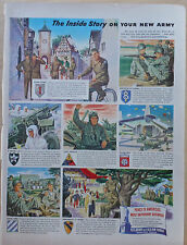 1949 magazine ad for United States Army recruiting - Inside Story Your New Army
