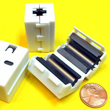 """(2) 3/8"""" ID (max cable size) FERRITE FILTER - Reusable, Snap-On - stop RFI-EMI"""