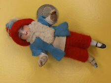 Antique Dolls Germany dwarf christmas child snow child dollhouse  Limbach 1900-
