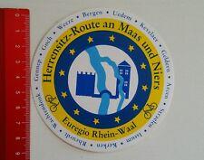 Aufkleber/Sticker: Herrensitz Route an Maas und Niers - Euregio (070416152)