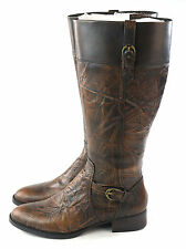 Laredo Mens Tallahassee Western Boot Distressed Brown Leather Size 10.5 D