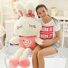 1pcs 100CM Big Plush Cute Bunny Pink Rabbit Giant Large Stuffed Plush Toy Doll