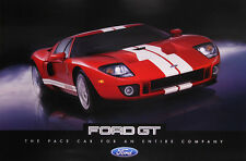 "FORD GT ""24 X 36"" Dealer Poster Print Red Original NOS Double Sided GT40 Shelby"