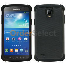 Fenzer Hybrid Rubber Hard Case Cover for Samsung Galaxy S4 S 4 GS4 Active Black