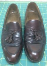 Vintage BALLY  Brown Leather Shoes Loafers Men's Size 10B Slip On Made In France