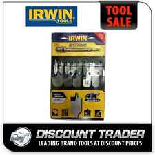 Irwin SPEEDBOR Blue Groove Spade Bit Set 13Pc BONUS LOCK 'N' LOAD Ext 3041011MEX