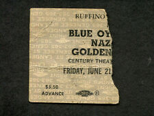 1974 Golden Earring Nazareth Blue Oyster Cult BOC Concert Ticket Stub Buffalo NY