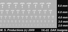 1/100 12mm to 15mm FOW + 1/144 to 1/72 DAK Afrika Korps Decals White YK-02