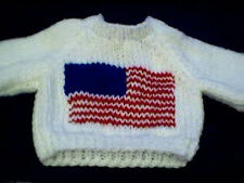 Custom American Flag Sweater Handmade for 18 inch Build A Bear Fourth of July