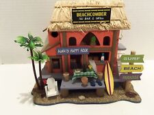 BEACHCOMBER TIKI BAR AND GRILL WOODEN DISPLAY- ALWAYS HAPPY HOUR-VERY RARE