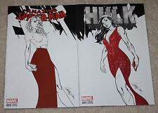 AMAZING SPIDER-MAN 23 HULK 1 J SCOTT CAMPBELL RED B&W VARIANT SET GWEN STACY HOT