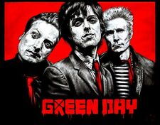 "4.5"" GREEN DAY vinyl bumper sticker. VERY RARE IMAGE! For car, guitar or bong."