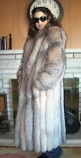 Crystal Fox Fur Coat Full Length