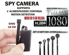 MICROSPIA SPY CAMERA SPIA FULL HD +SD 16GB  MOTION DETECTION TELECAMERA MICRO A