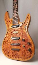 """Blueberry New Handmade Top-carved Electric Guitar """"Goddesses"""" w/ Seymour Duncans"""