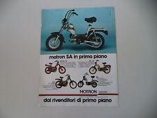 advertising Pubblicità 1980 MOTRON 50 SA/SV3 R/RA G1/GL4 GL 4