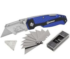 KOBALT UTILITY KNIFE 11 BLADES FOLDABLE SPEED RELEASE QUICK CHANGE BOX CUTTER