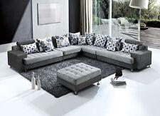 Divano angolare 325x250 pouf in microfibra moderno grigio soggiorno divani 456