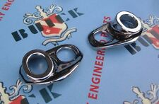 1950-1953 Buick Cadillac Oldsmobile Windshield Wiper Escutcheons | Pair | Chrome