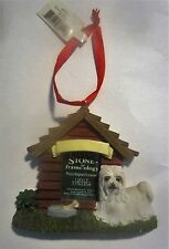 Maltese Dog House Magnet Ornament Living Stone Frame-ology Photo