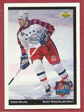 1992-93 Upper Deck McDonald's NHL All-Stars - #24 - Owen Nolan - Nordiques