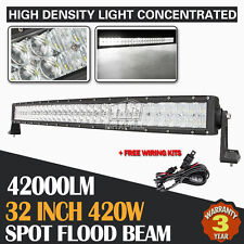 5D 32INCH 420W OSRAM CURVED LED LIGHT BAR SPOT FLOOD COMBO OFFROAD TRUCK ATV 30""