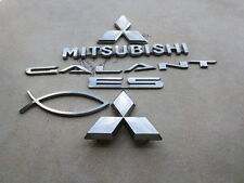 99-03 Mitsubishi Galant Es Front MR971392 Logo Trunk MR971393 Emblem Decals Set