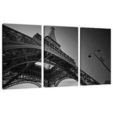 Set of Three 3 Part Black White Canvas Wall Art Pictures Prints 3016
