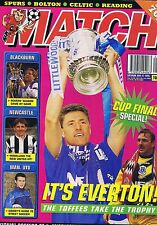 EVERTON / BLACKBURN / NEWCASTLE / MAN UTD Match May 27 1995