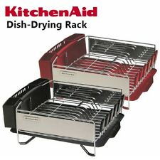 Kitchen Aid  3 Pc Dish Cup Holder Plate Drying Drainer Rack set Red or Black