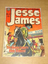 JESSE JAMES #2 VG+ (4.5) AVON COMICS KUBERT DECEMBER 1950