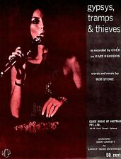 Sheet Musiic: GYPSIES TRAMPS & THIEVES (Cher)  As New