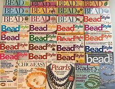 Large Lot 31 Beading Jewelry Making Magazine Beadwork BEAD & BUTTON / BEAD STYLE