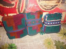 CELEBRITY SANTENS SOUTHWESTERN STYLE BOLD DESIGN GREEN BLUE RED (3) HAND TOWELS