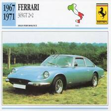 1967-1971 FERRARI 365GT 2+2 Classic Car Photo/Info Maxi Card