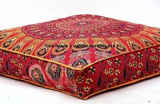 Indian Mandala Floor Ottoman Poufs Pets Bed Cover Hippie Tapestry Pillow sham