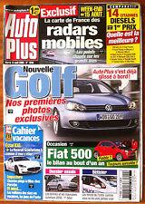 AUTO PLUS du 12/08/2008; Essai 14 citadines diesels 1er prix/ Occasion Fiat 500