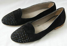 womens black JONES The Bootmakers suede ballerinas flats pumps shoes Eu 41 UK 7
