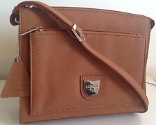 L. Credi Handbag, Cognac. ( Geniune Leather Man/Woman Professional ) RRP £125