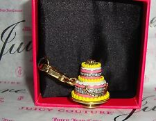 New Juicy Couture Happy Birthday Cake Charm For Bracelet, Necklace,Handbag