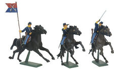 W Britain Civil War Union Cavalry Set No. 1 - Hand-Painted Plastic w/metal base